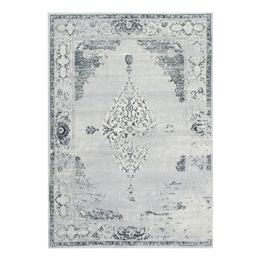Photo of NuLOOM Sherrell Gray Indoor Vintage Area Rug (Common: 5 x 8; Actual: 5.25-ft W x 7.5833-ft L) at Lowes.com