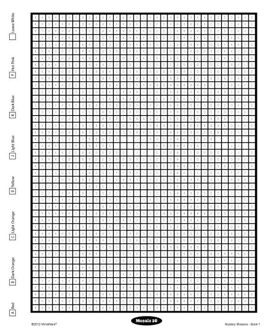 Pin By Mindware On Free Mindware Printables Mosaic Books Color By Number Printable Coloring Pages