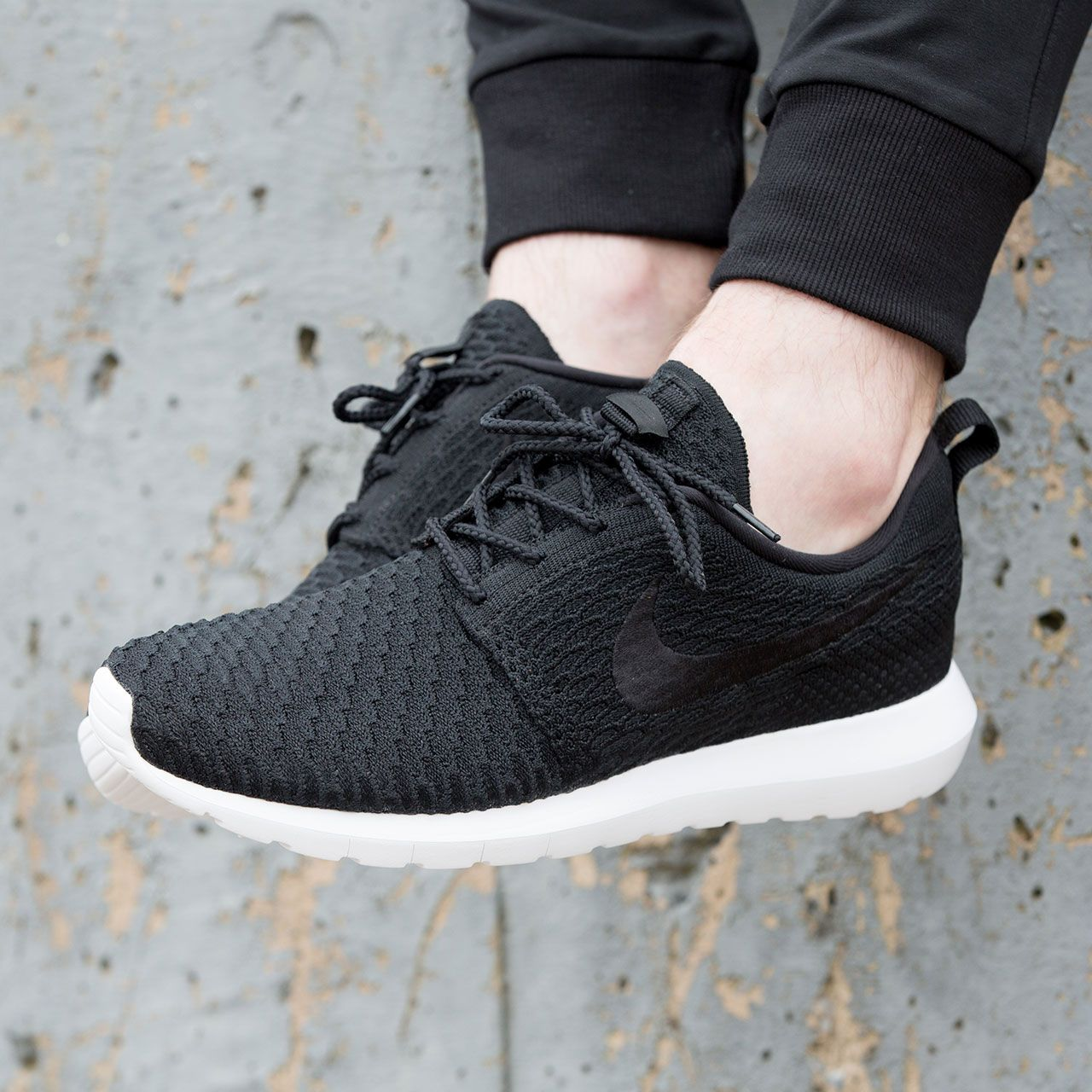 new concept 59f46 e1bb1 Casual styling with the Nike Roshe NM Flyknit Trainer in Black   White.