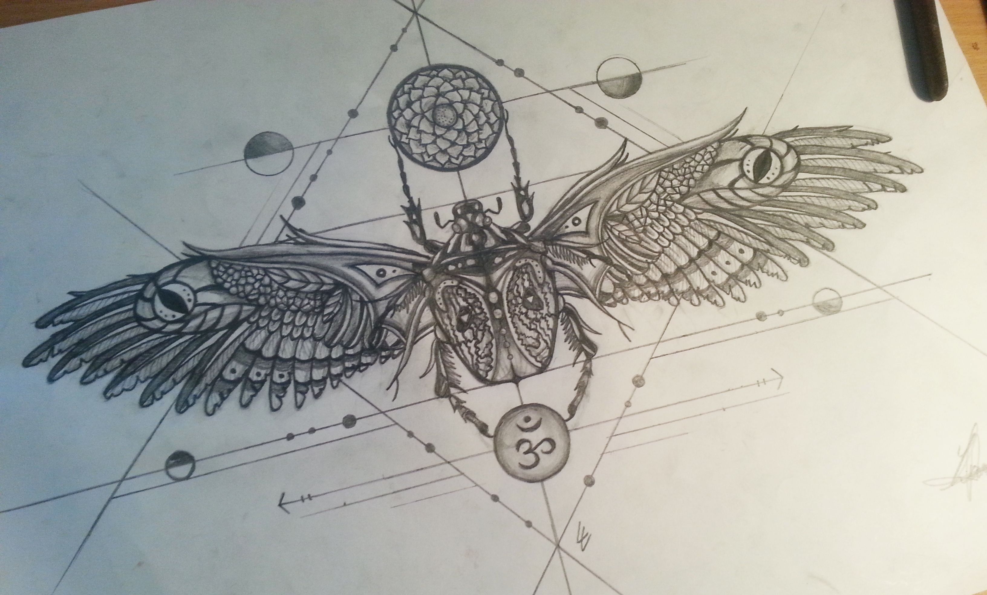 Scarab tattoo design under chest tattoos and piercing for Scarab tattoo designs