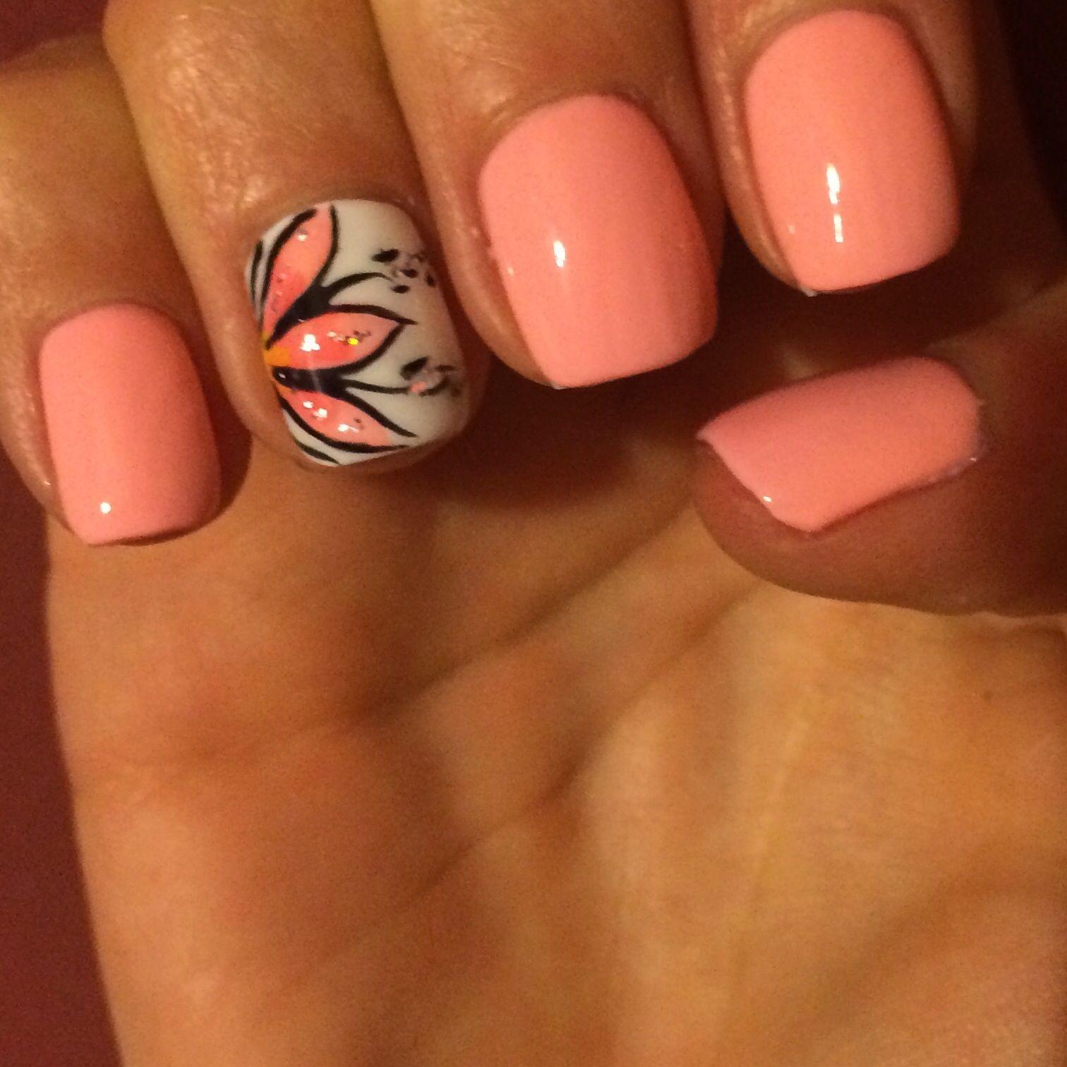 Blossomflower Design Nail Art Pinterest Mani Pedi Summer And