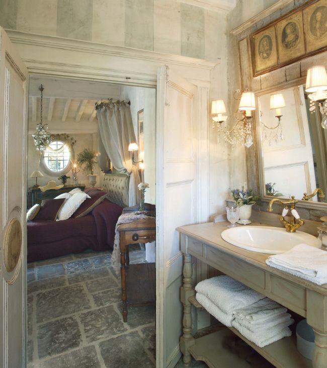 salle de bain shabby bathroom emanuela marchesini homes by design pinterest bagno bagni. Black Bedroom Furniture Sets. Home Design Ideas