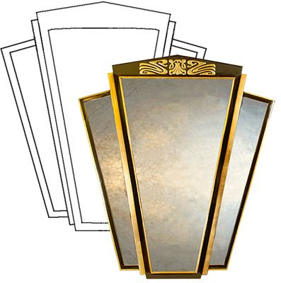 Art Deco Wall Mirrors - Home Decorating Excellence | Art Deco ...