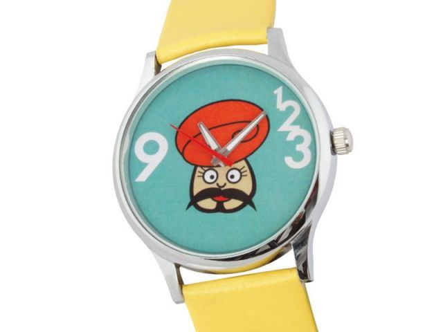 Rajasthani moustache man in a wrist watch