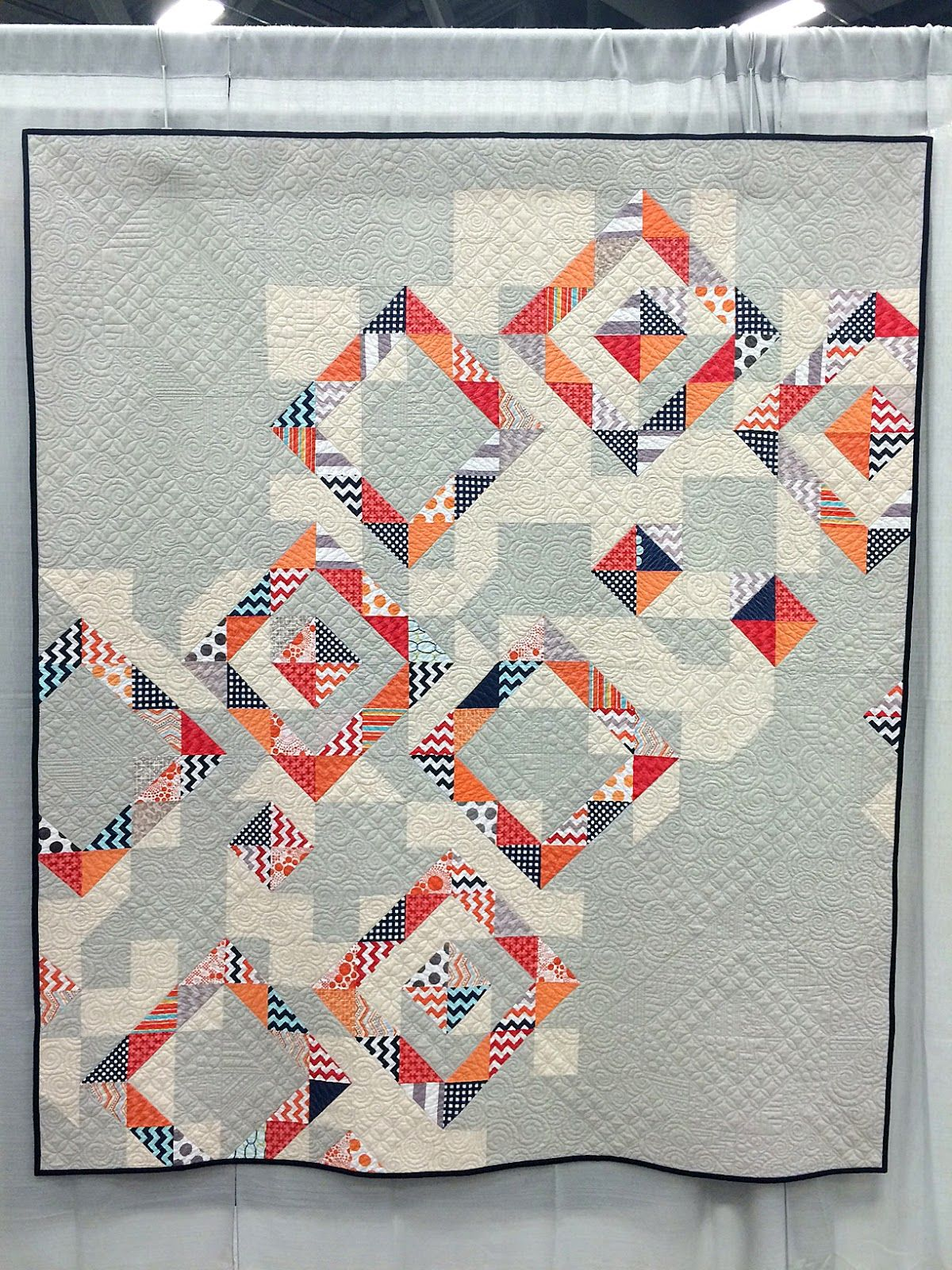 Moderne Quilts Beautiful Modern Quilt Made With Riley Blake Chevrons Dots And