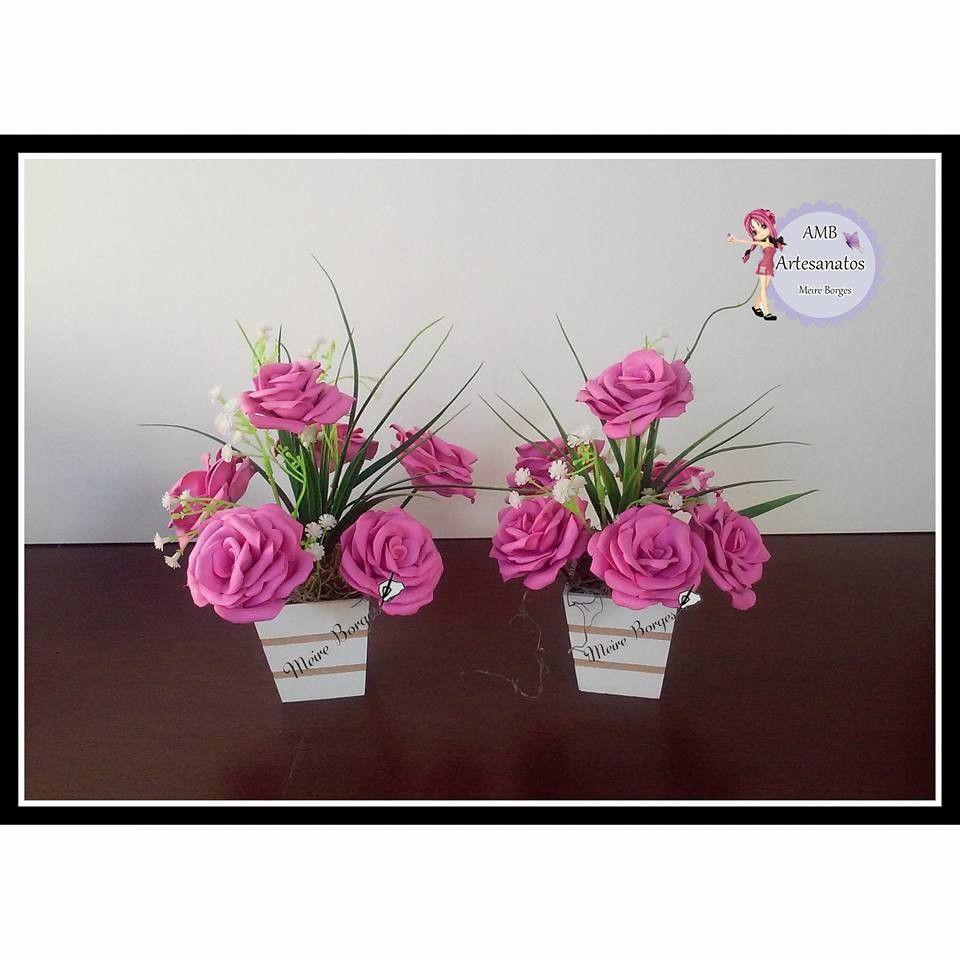 Centro De Mesa Com Rosas De Eva Com Imagens Flores De Papel