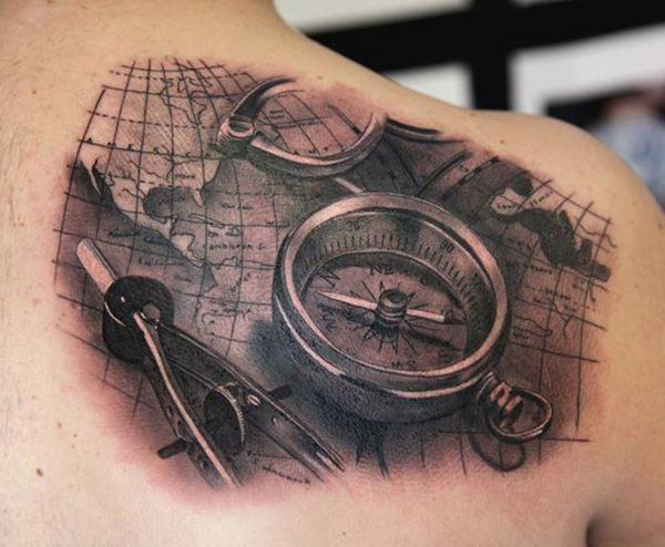 45 awesome cool tattoos tattoo compass tattoo and compass 45 awesome cool tattoos gumiabroncs Choice Image