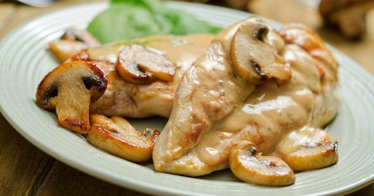 Prepara En Pocos Minutos Unas Cremosas Y Ricas Pechugas De Pollo En Salsa De Cebolla Mui Recetas Pechuga De Pollo En Salsa Pollo En Salsa Salsa De Cebolla