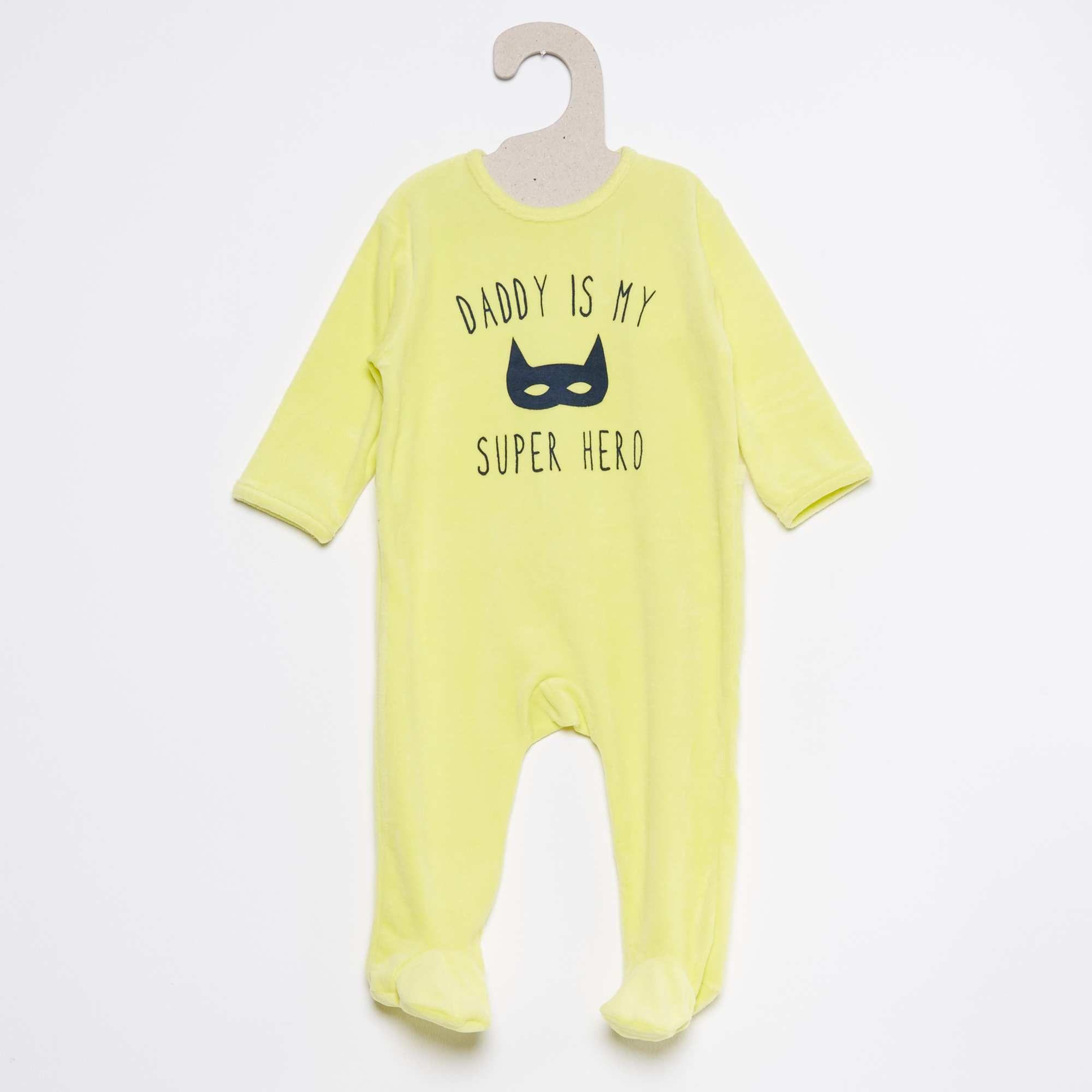 Pijama De Terciopelo Estampado Pyjama Bebe Garcon
