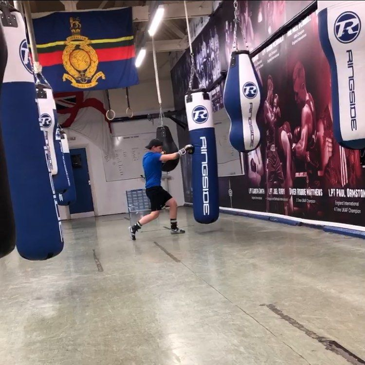 Putting the hard work in ready for the 19th 🥊 . . . @rnrm_boxing_team  #boxing #fitness #royalnavybo...