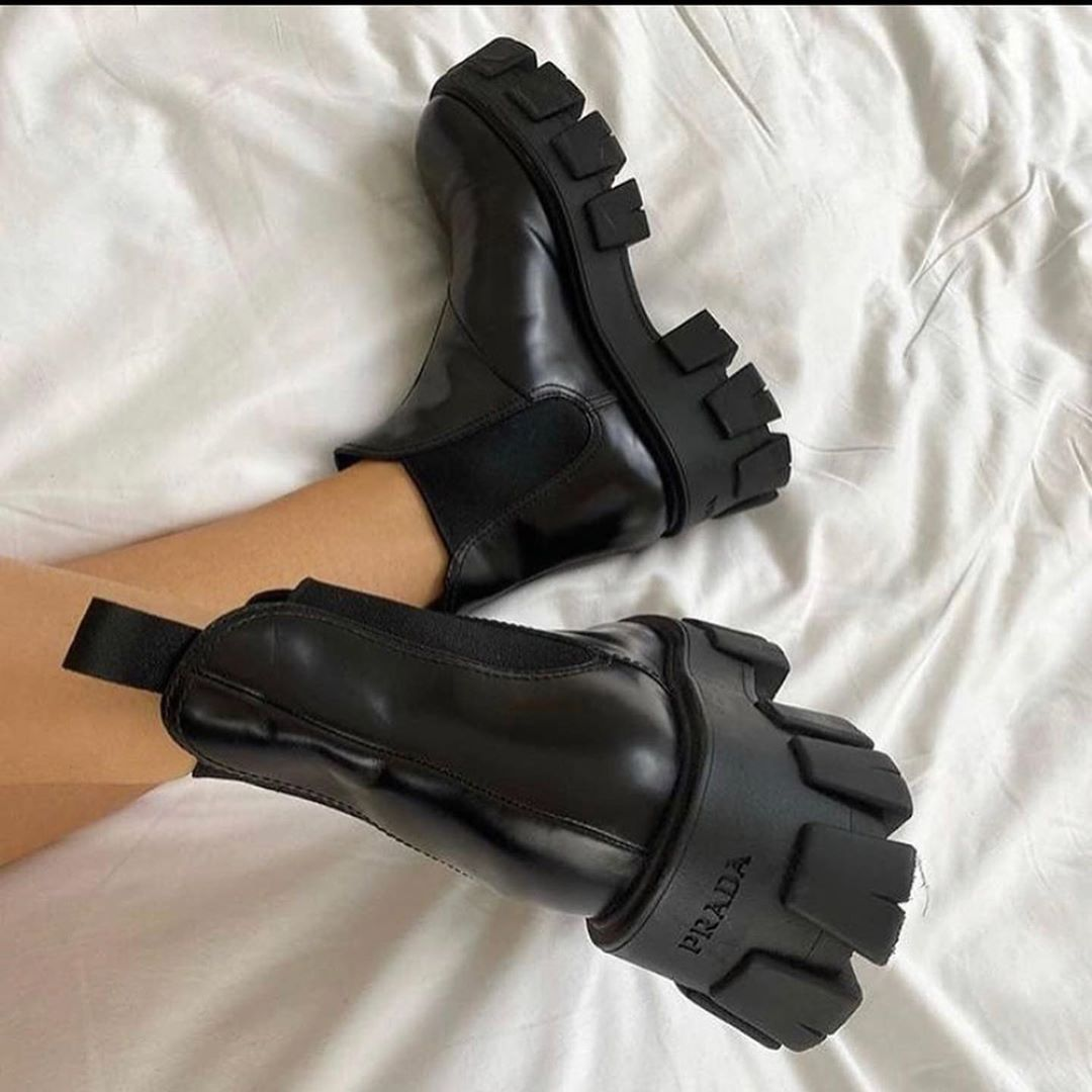"BEFORE WE STEP OUT on Instagram: ""trending: grunge and platform boots sources tagged • • • • • • • • • #prada #trends #fashion #dior #models #beauty #grunge #y2k #style…"" 2"