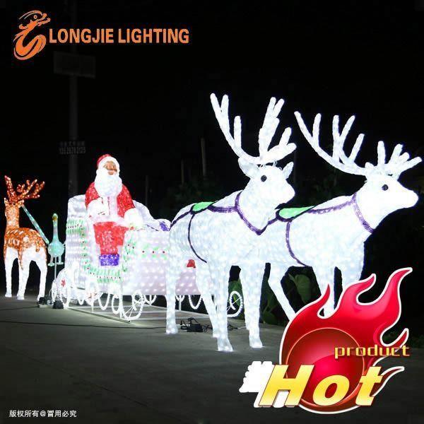 7b7eb1337c Santa Claus led outdoor Christmas light sculptures led 3D deer motif light  for Shopping Mall Decoration Christmas Decorative