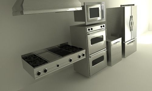 Full Viking appliances in the kitchen.... excuse me while I drool ...