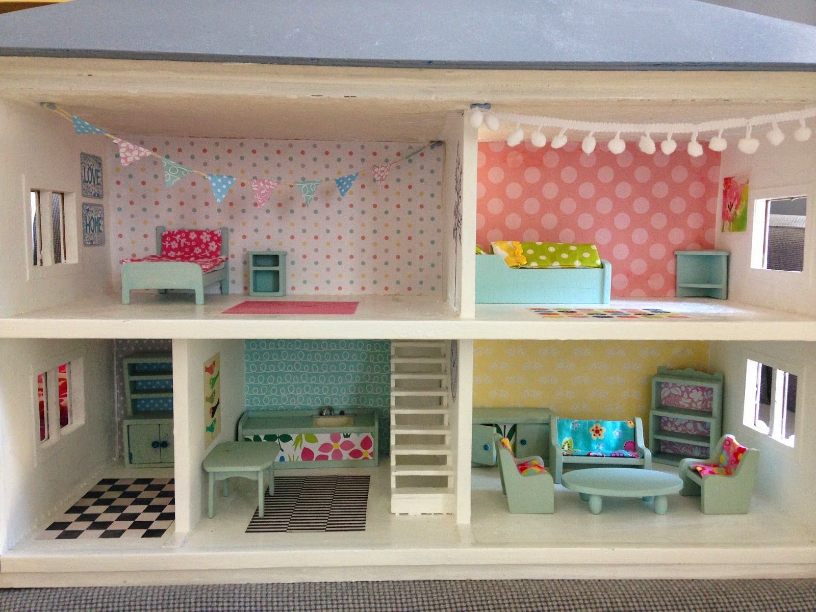 Dolls house makeover - you should see the before shots! This was ...