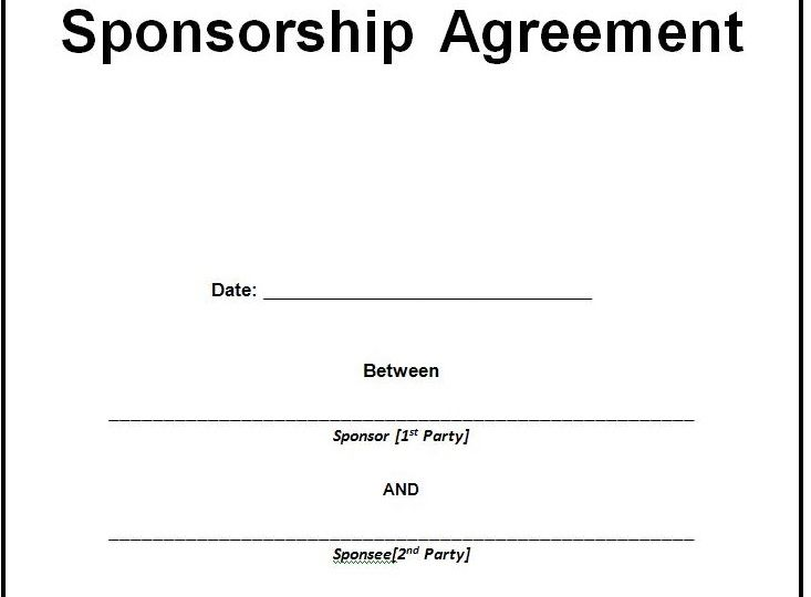 Sponsorship Contract Template Word Doc – Microsoft Office Samples