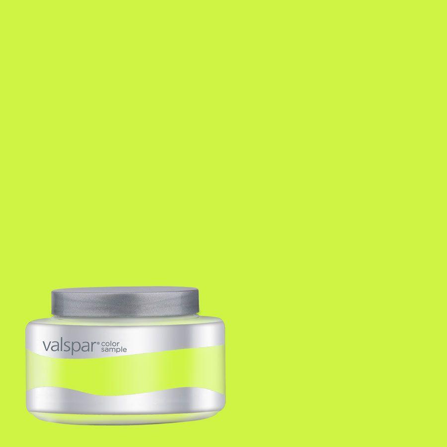 Shop Creative Ideas For Color By Valspar 8 Oz Twist Of Lime Interior Satin  Paint Sample At Lowes.com