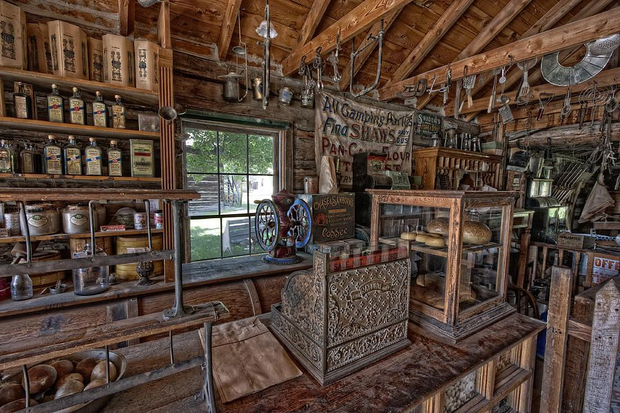 Counter Of Old West General Store Montana Photograph
