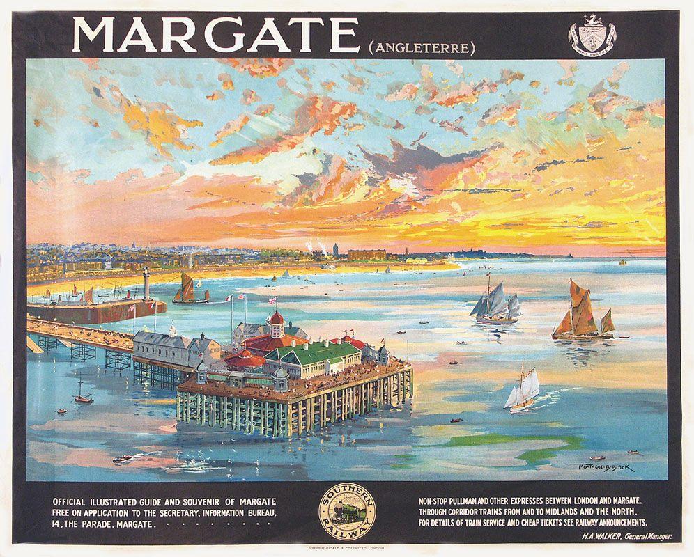 Black Montague Birrel Margate Travel Posters Vintage Travel Posters Tourism Poster