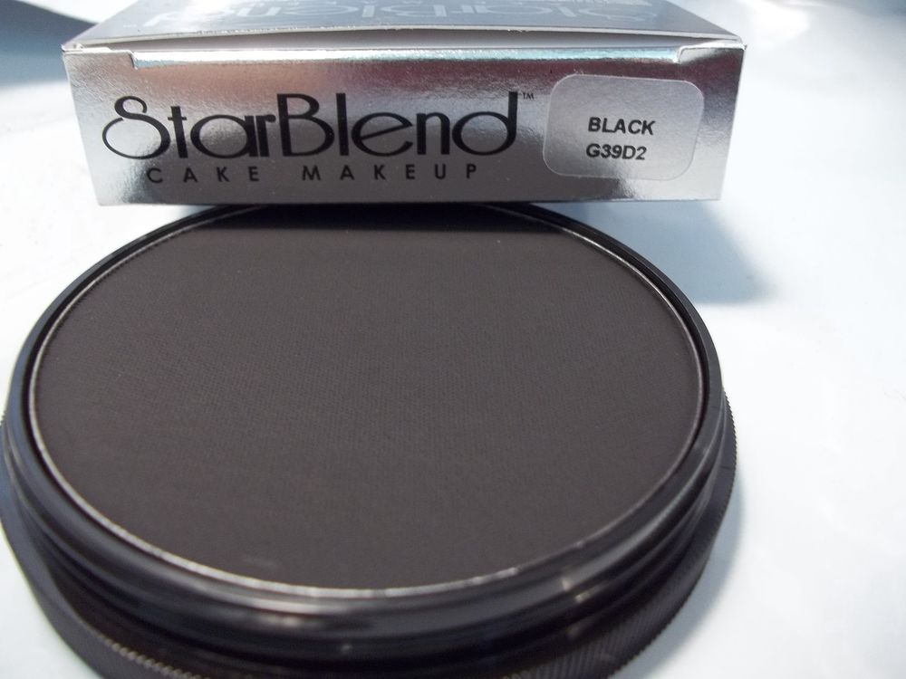 Mehron Black Star Blend Cake Pancake Water Base Stage Makeup Professional Mehron Mehron Stage Makeup Makeup
