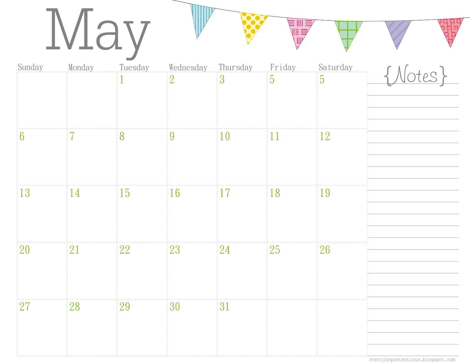 Cute May 2016 Calendar Calendar Template Print Calendar