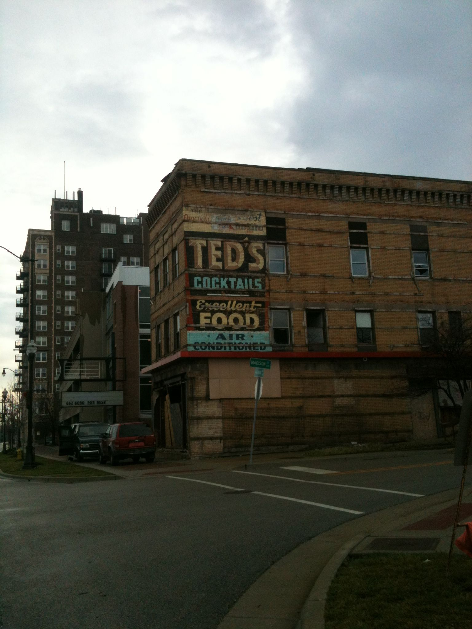 Downtown Waukegan Photo taken in 2012 Old Ted's Sign I