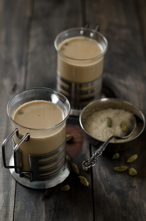 Cardamom Tea  .. How to = Add milk, crushed cardamom and teabags in a milk pot.  Bring the heat up to a gentle simmer for few minutes.  Take off from heat and set aside.  Let the tea steep for few minutes.  Scoop off any milk scum that may form.  Add sugar.  Serve immediately and enjoy!