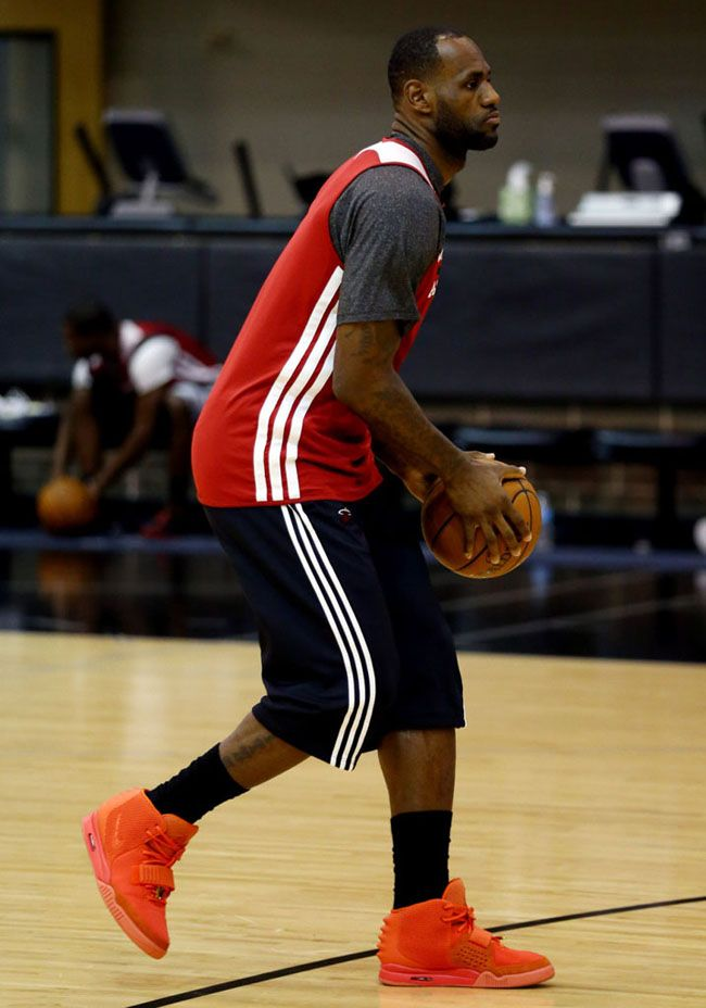 LeBron Balling in the Air Yeezy 2 - EU Kicks: Sneaker Magazine