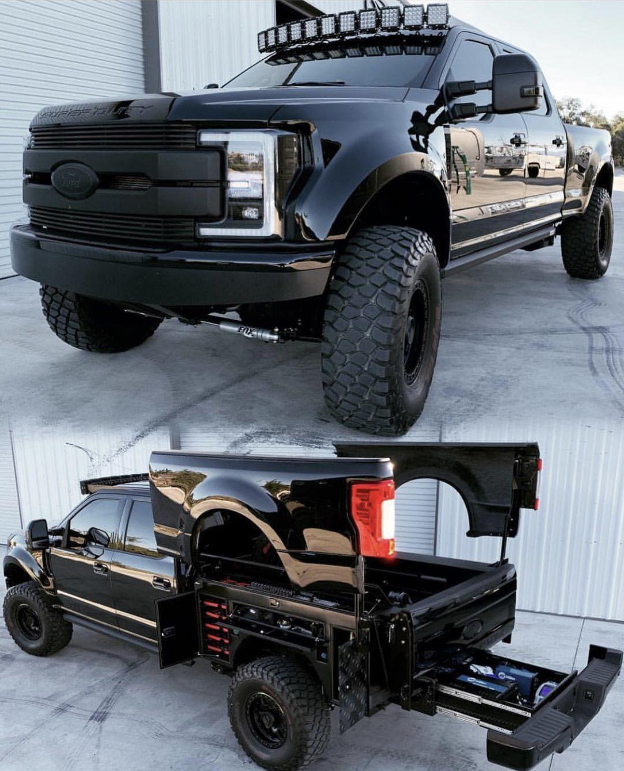 Fancy Toolbox Custom Truck Beds Custom Trucks Truck Flatbeds