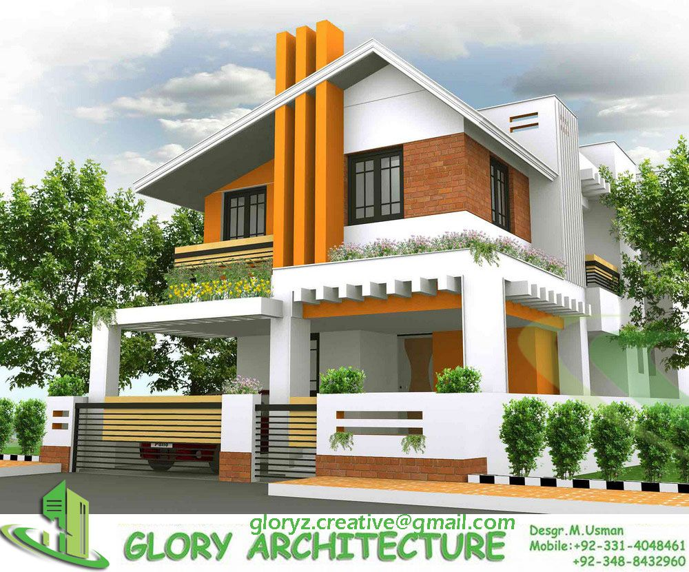 3d Elevation In 2020 Modern Architecture House Best
