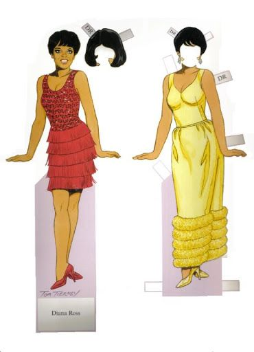 PD354 - Diana Ross Paperdoll by Tom Tierney