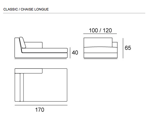 chaise longue dimensions google