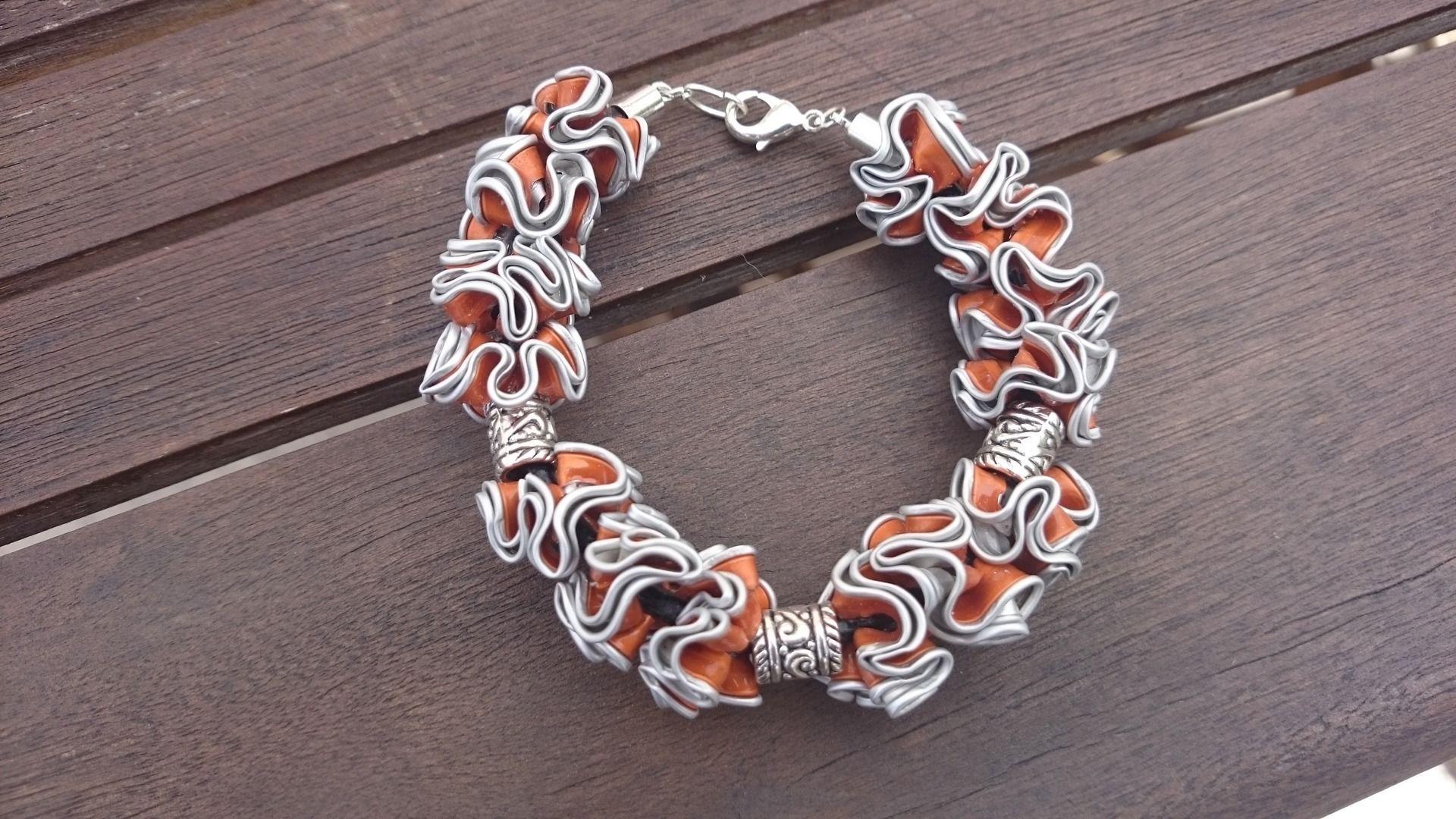 bijoux bracelet capsule caf nespresso recycl orange bracelet par cococreative bracelets. Black Bedroom Furniture Sets. Home Design Ideas