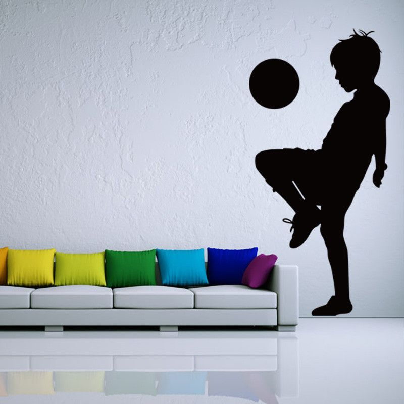 Good Soccer Football And Famous Soccer Players Wall Stickers Home Decor Wall  Decal For Kids Room Sport. Bedroom MuralsWall ...