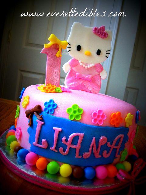 Hello Kitty 1st Birthday Cake Cake Cookies Hello Kitty