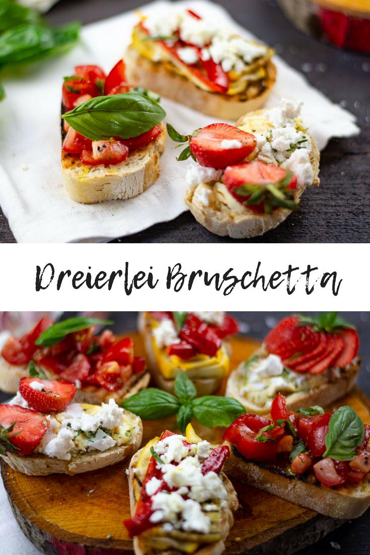 3erlei Bruschetta von klassisch bis modern
