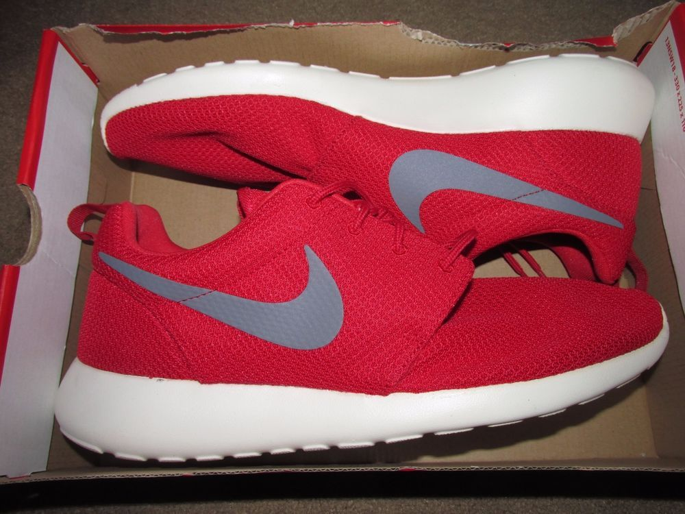 96f707b1dbf8 Nike Roshe Run One Mens Shoes 12 Sport Red Cool Grey Sail 511881 601  Nike   RunningCrossTraining