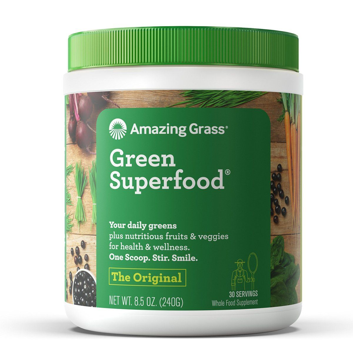 Amazing grass green superfood organic powder with wheat