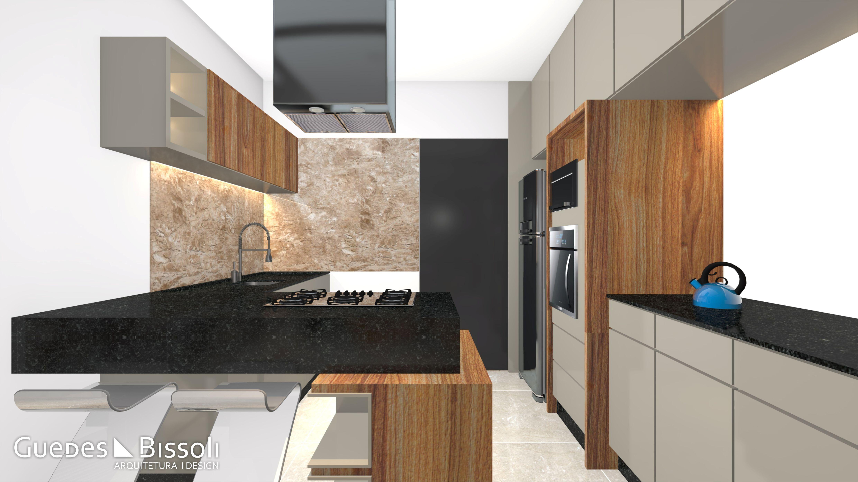 Projeto De Design De Interiores De Uma Cozinha Moderna Em L M Veis