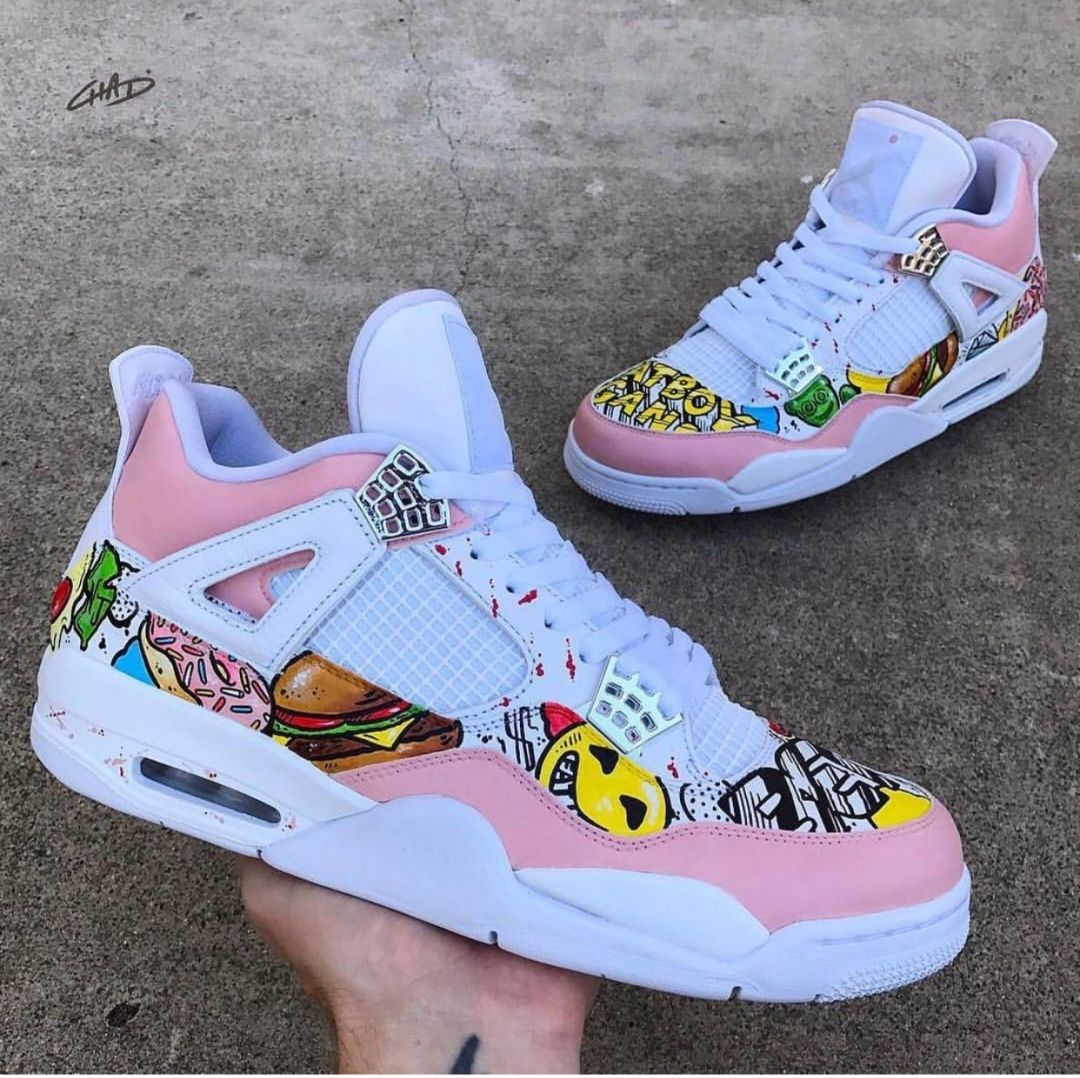 10d9d943d fascia floral customised nike air huarache trainers sneakers dope ...