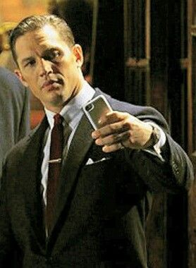 Tom Hardy taking a Selfie!! Wow we have so much in common!!