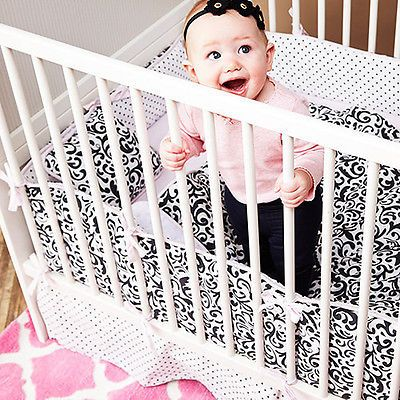Clearance Sale Kress Co Doodles And Dots Baby Girl 9 Piece Crib
