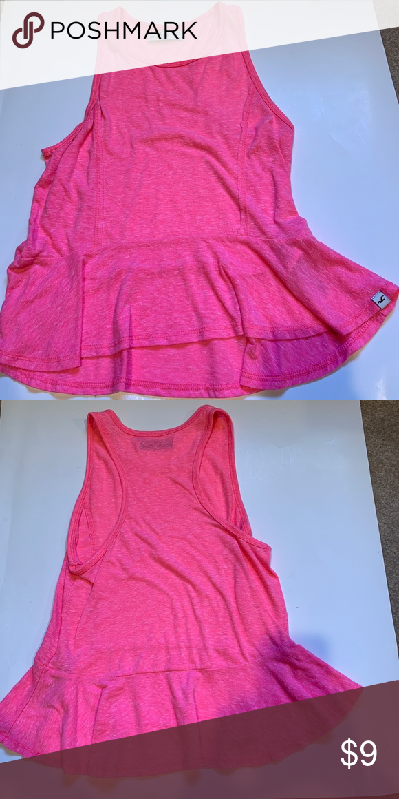 daf63791806dff Pink Hollister Tank size XS juniors Adorable hot pink hollister tank with  peplum-like bottom! Very gently used   in great condition! feel free to  offer!