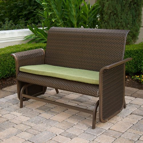 patio glider bench | Modern Wicker Loveseat Glider Bench: Patio Furniture :  Walmart.com - Patio Glider Bench Modern Wicker Loveseat Glider Bench: Patio