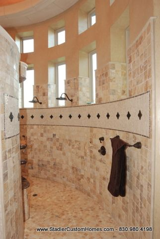 Walk In Shower This Reminds Me Of Kevin Harvick S Hill Country Homes Tuscan House Custom Home Builders