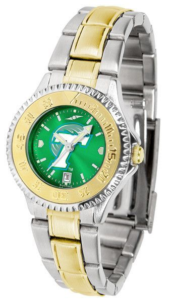 Ladies Tulane University Green Wave - Competitor Two Tone AnoChrome Watch