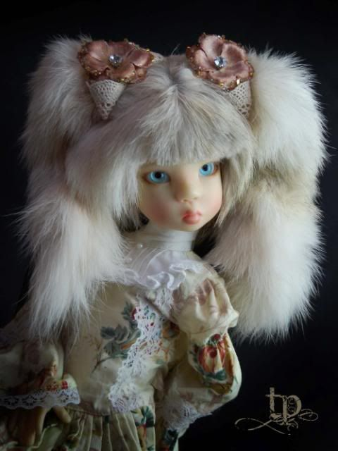 Vintage fur wig by Tracy Promber