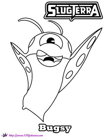 Bugsy The Hoverbug from SlugTerra Coloring Page