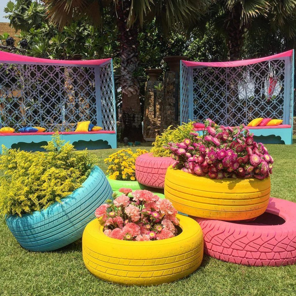 Garden wedding stage decoration  Image result for mehendi decor  My Resturant ideas  Pinterest