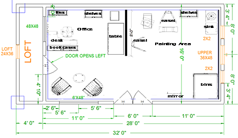 artist studio plans google search casute mai noi. Black Bedroom Furniture Sets. Home Design Ideas