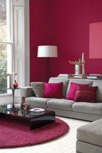 Salon Gris Et Bordeaux décoration salon couleur bordeaux | maison salon | pinterest